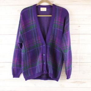 Pendleton L Virgin Wool Purple Cardigan